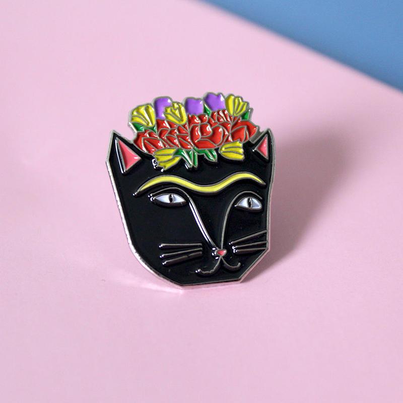 Niaski フリーダ・キャトロ・ピン(Frida Catlo Pin)
