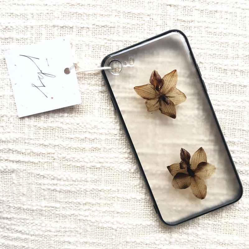 フローラル i phone 7/8 case  (ブラック)①