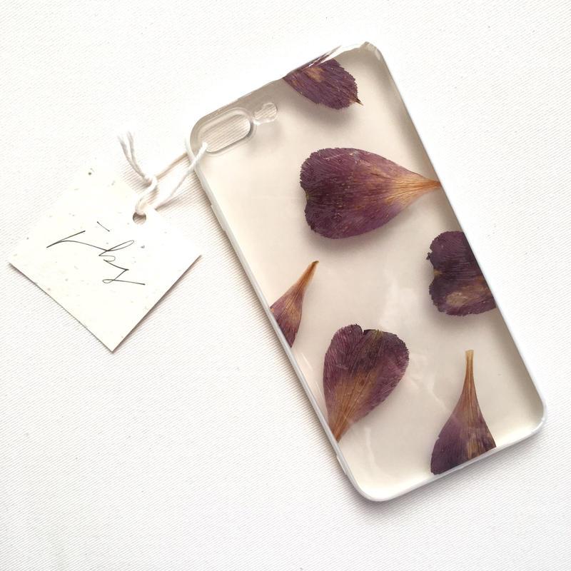 フローラル i phone7/8Plus case  (ホワイト)③
