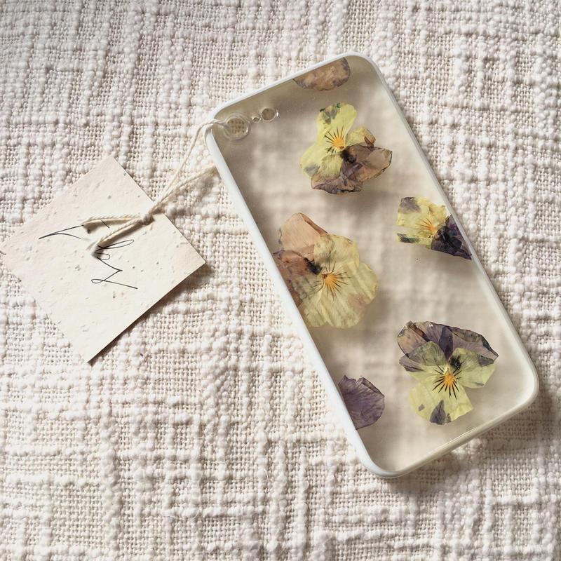 フローラル i phone 7/8 case (ホワイト)③