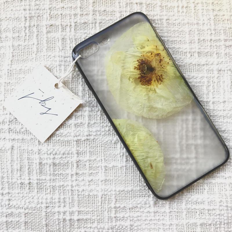 フローラル i phone7/8Plus case  (ブラック)②