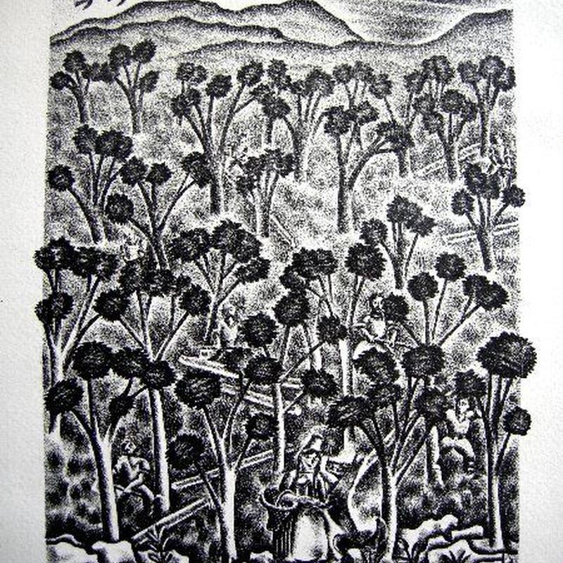 「赤頭巾ちゃん」1928年制作 リトグラフ