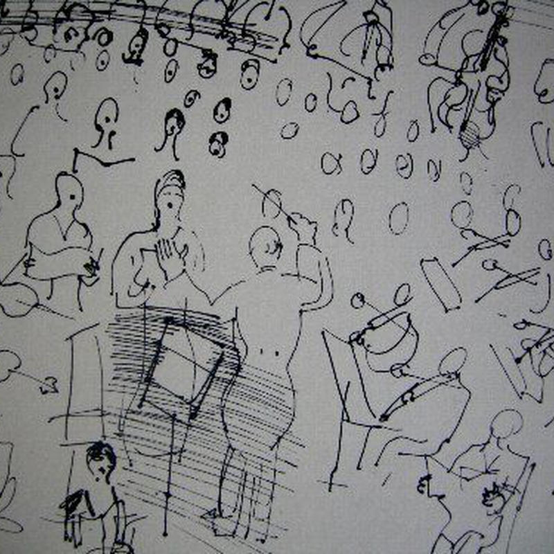 ラウル・デュフィのリトグラフ 「オーケス トラ」   コンディ ション良好