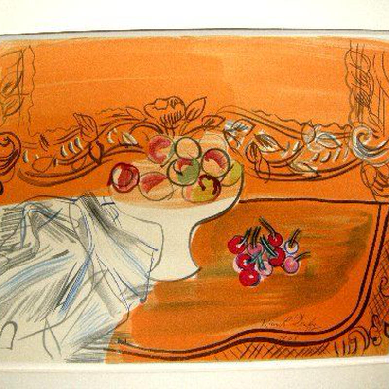 Raoul  Dufyのリトグラフ 静物「Dessin」
