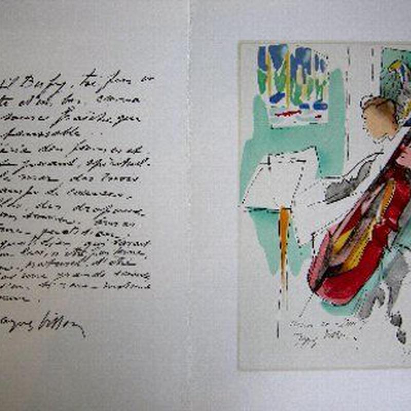 Jacques  Villon ジャック・ヴィヨンのリトグラフ マルセル・デュシャンの兄弟    送料無料
