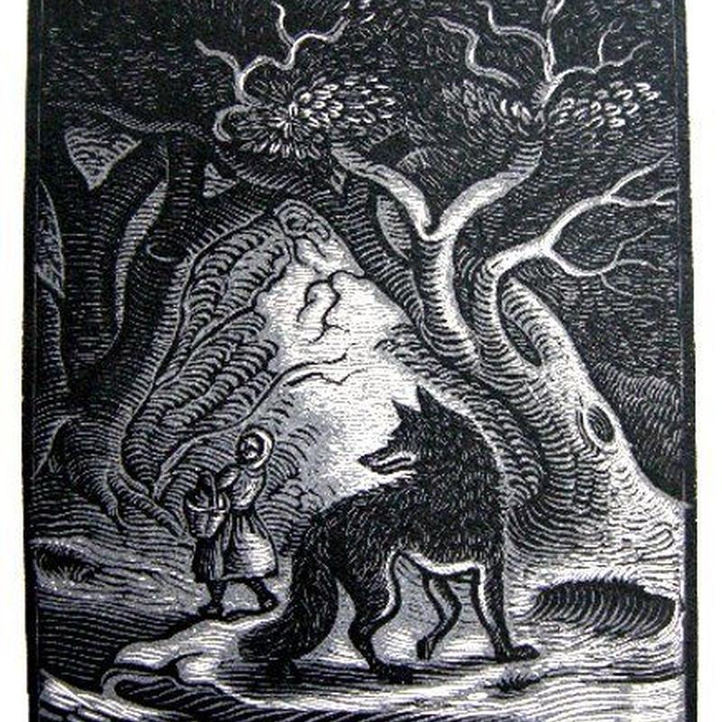 「赤頭巾ちゃん」リトグラフ 1928年制作 ペローの童話集