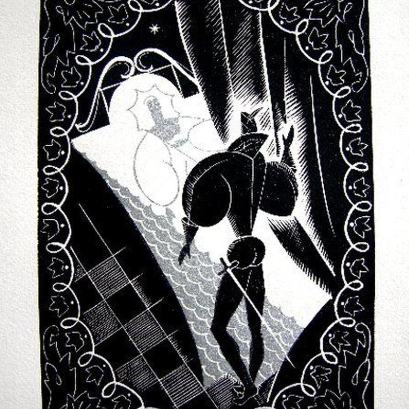 「眠れる森の美女」木版画 ピエール・ピンサール   送料無料
