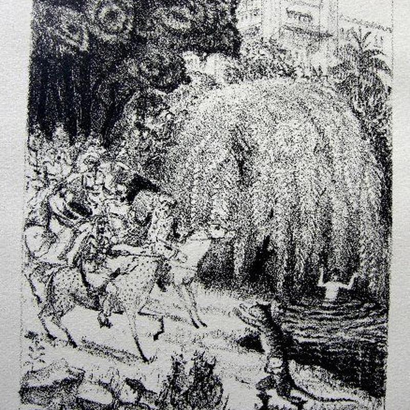 「長靴を履いた猫」 作家 ラファエル・ドロアール 1928年制作   送料無料