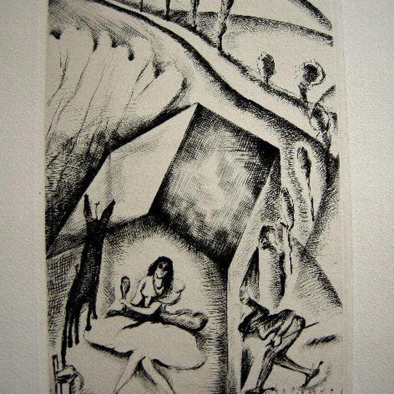 「ロバの皮」1928年制作 銅版画