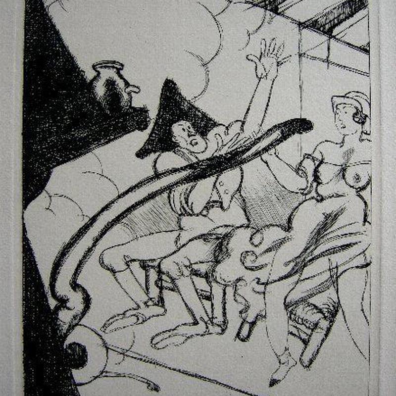 ペローの童話集 「愚かな願い」銅版画 作家 シャルル・マルタン