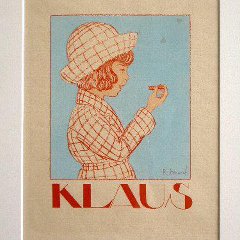 g:アール・デコのポショワール版画 1919-1920年制作  KLAUS 送料無料
