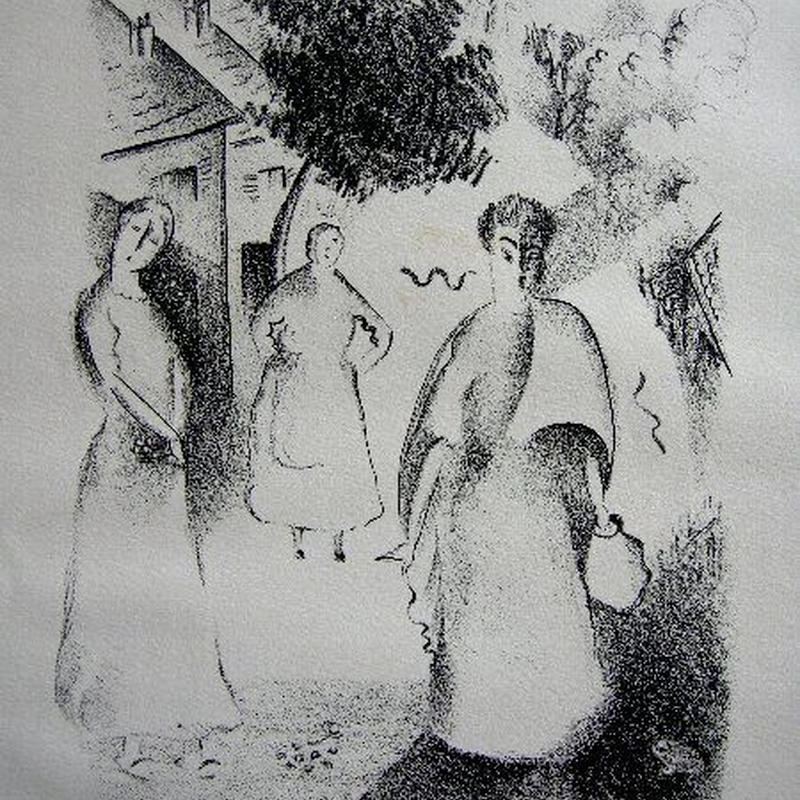 「妖精たち」1928年制作 リトグラフ
