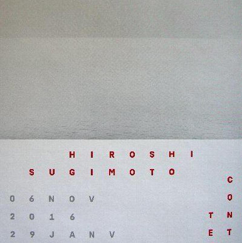注目の現代アート作家・杉本博司 2017年スイス MUSEE DES  BEAUX-ARTSでの展覧会ポスター      送料無料