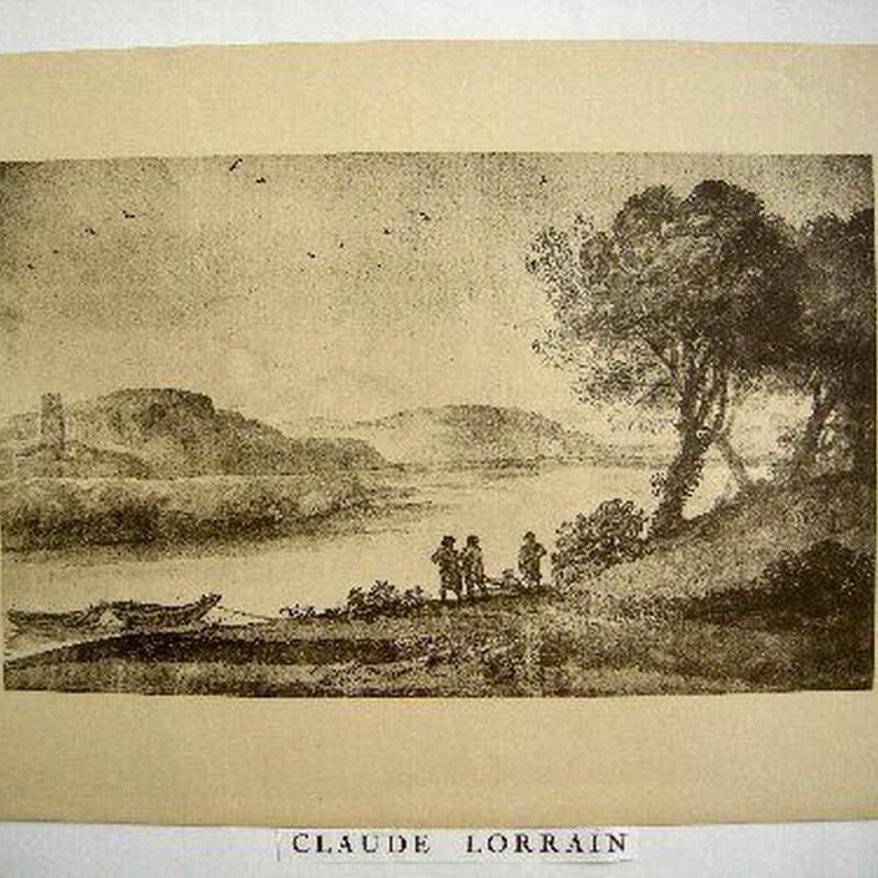 SALE  在庫整理処分!CLAUDE  LORRAIN クロード・ロラン 「風景画」1920年制作コロタイプ