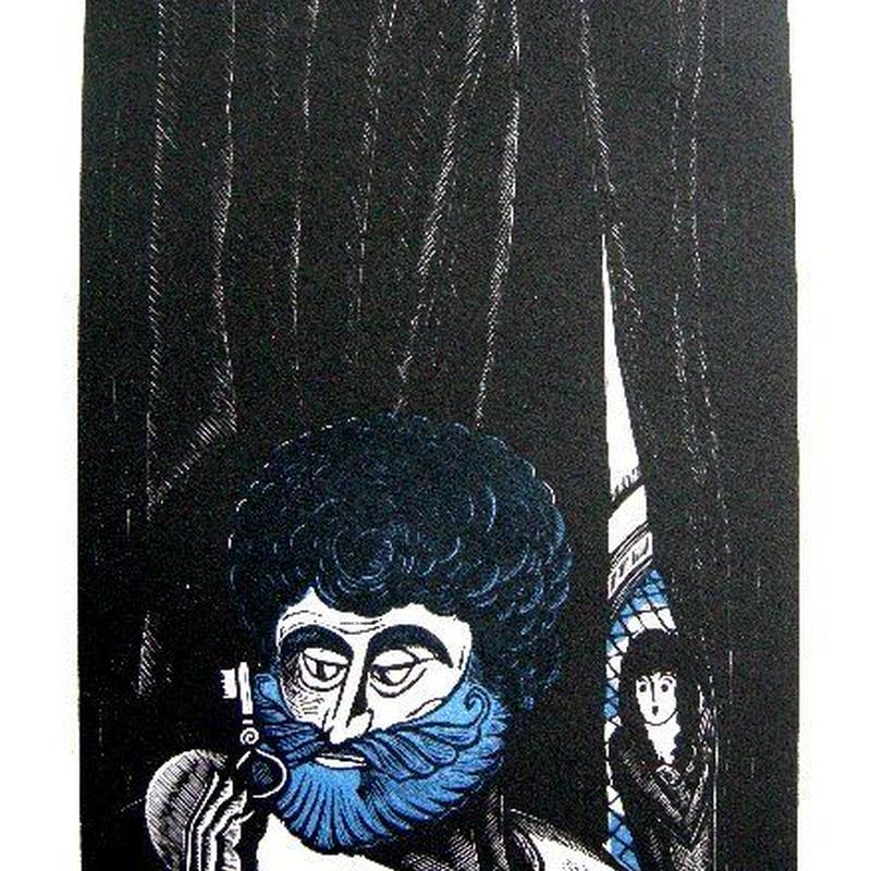 ペローの童話集 「青髭」銅版画 1928年制作  送料無料