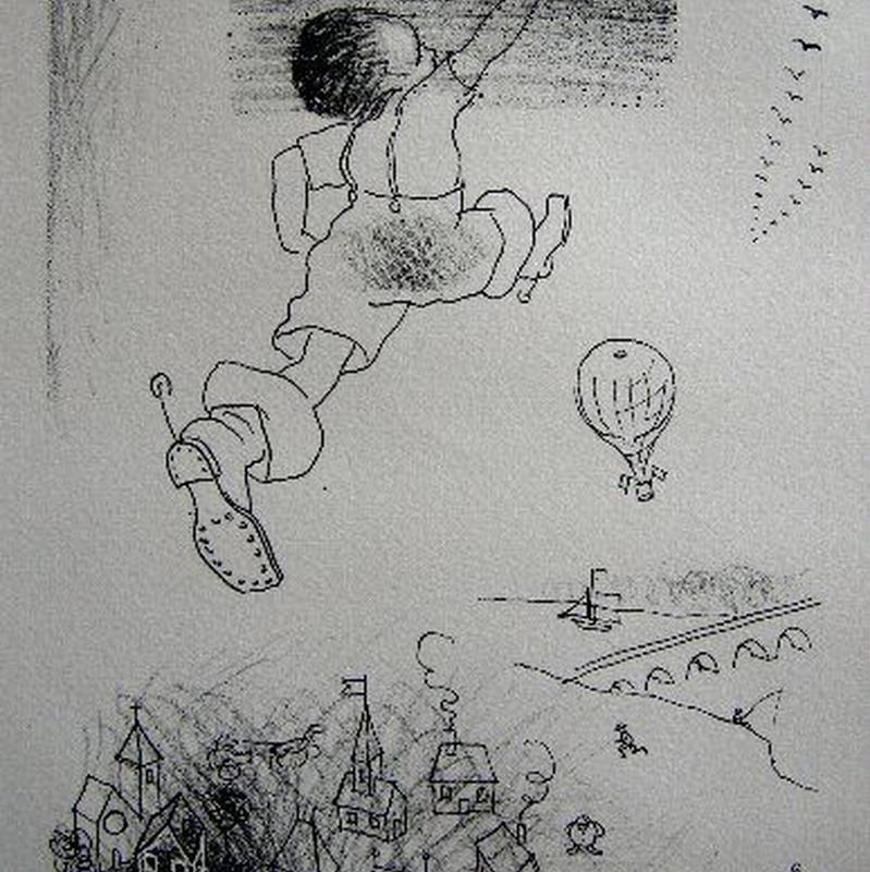 「親指小僧」 リトグラフ  作家 ジョルジュ・アネンコフ   送料無料