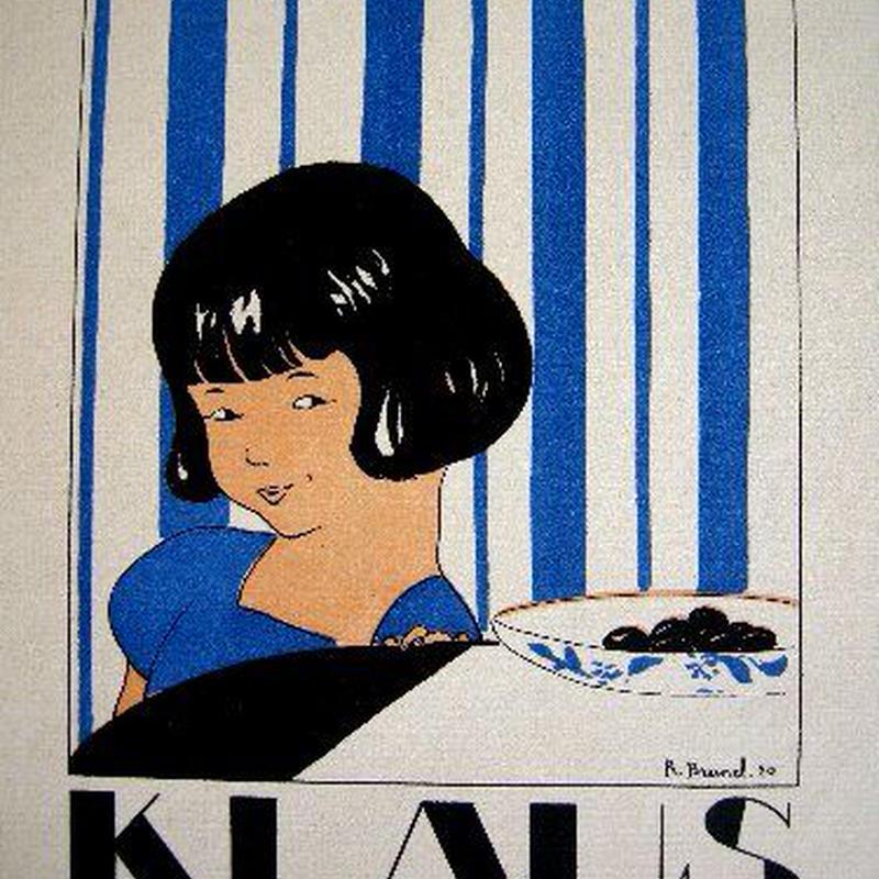 f:アール・デコのポショワール版画  1920年制作  KLAUS 送料無料