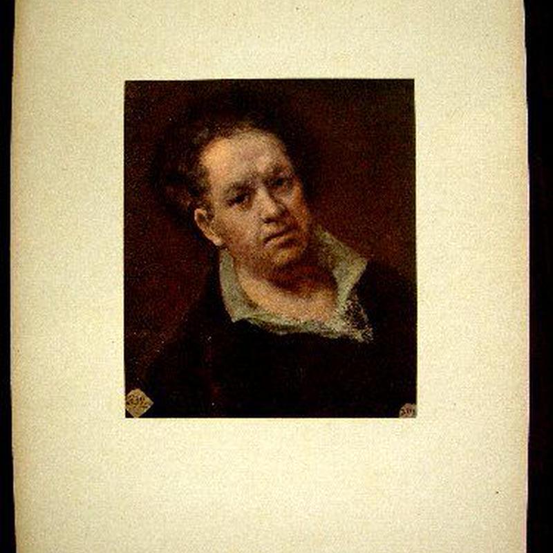 b:アンティーク・シート 1920年制作  初期カラー印刷の絵画が台紙に貼られたオリジナルアンティーク・シート