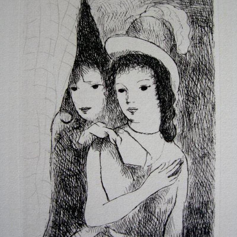 :売却済み  マリー・ローランサンの銅版画