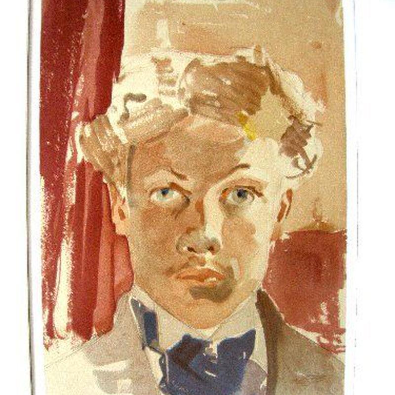 Raoul  Dufy ラウル・デュフィのリトグラフ  「自画像」