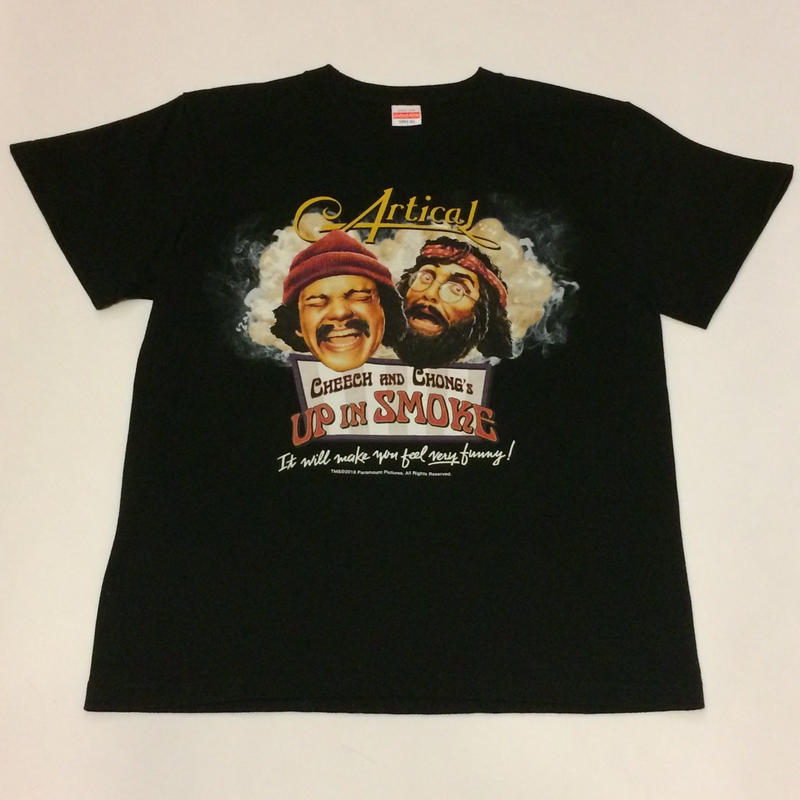 CHEECH &CHONG's UP IN SMOKE T shirt(black)