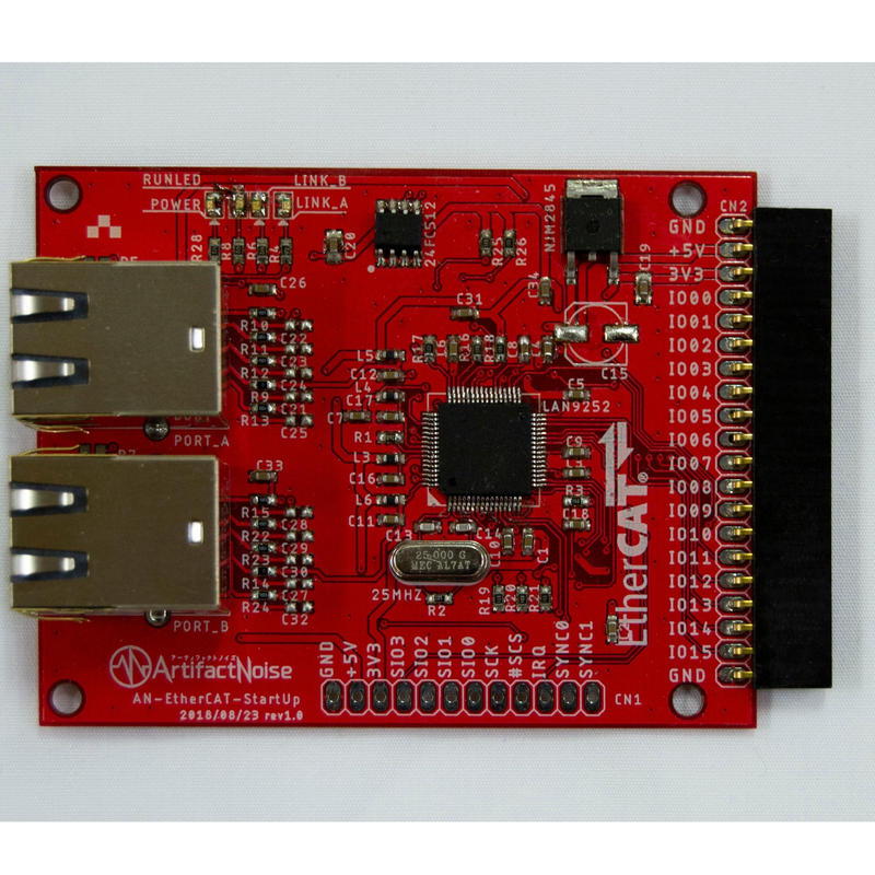 EtherCAT GPIO16ポート LAN9252使用評価ボード