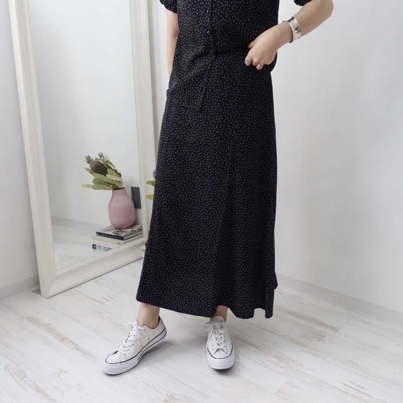 ポプリンドットスカート