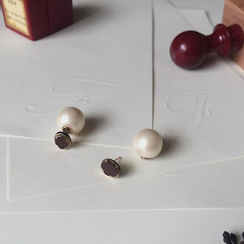 """chocolatショコラ"" ビンテージ/ガラス/ピアス"