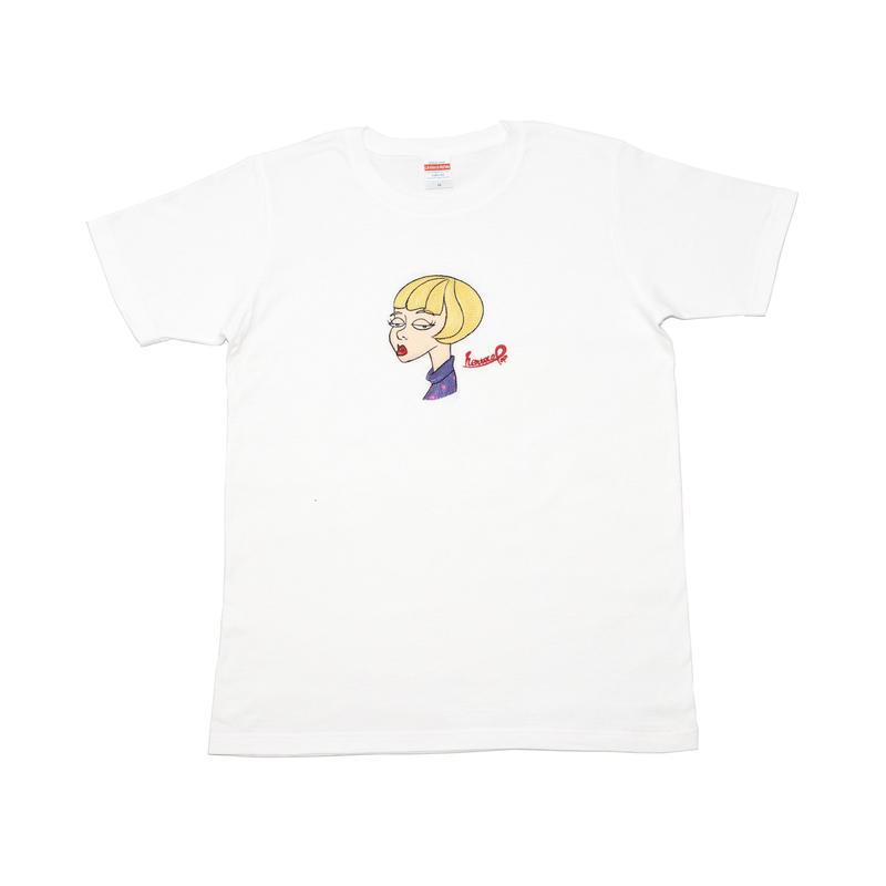henteco pop (へんてこポップ)  真顔 Tシャツ [white]