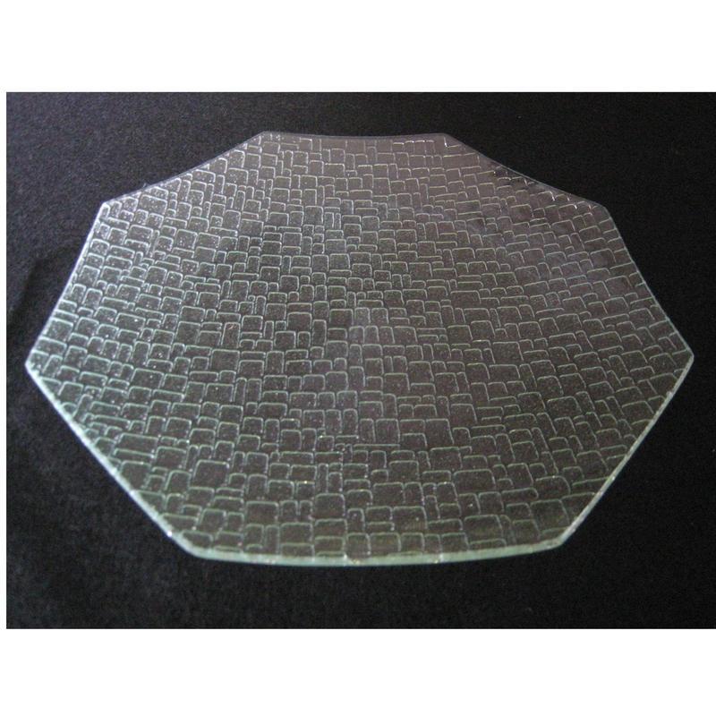 昭和型ガラス「つづれ」 皿 八角形 大(Φ180mm)