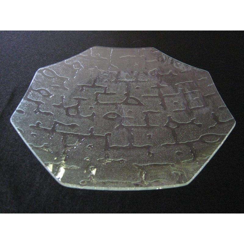 昭和型ガラス「さらさ」 皿 八角形 大(Φ180mm)