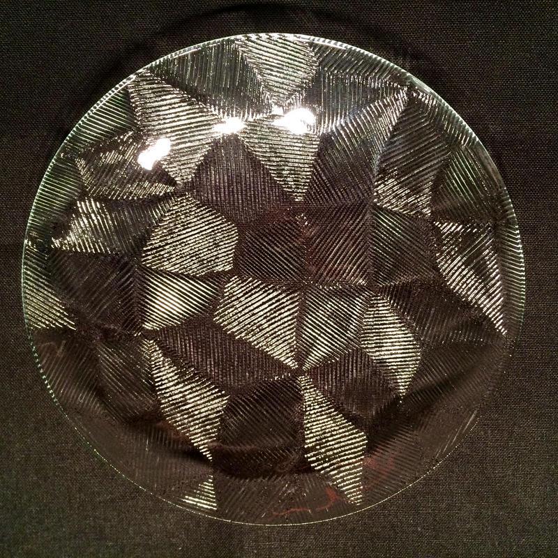 昭和型ガラス「きらら」 皿 円形 小(Φ120mm)