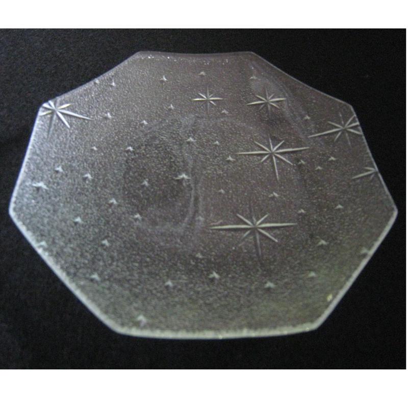 昭和型ガラス「銀河」 皿 八角形 小(Φ120mm)