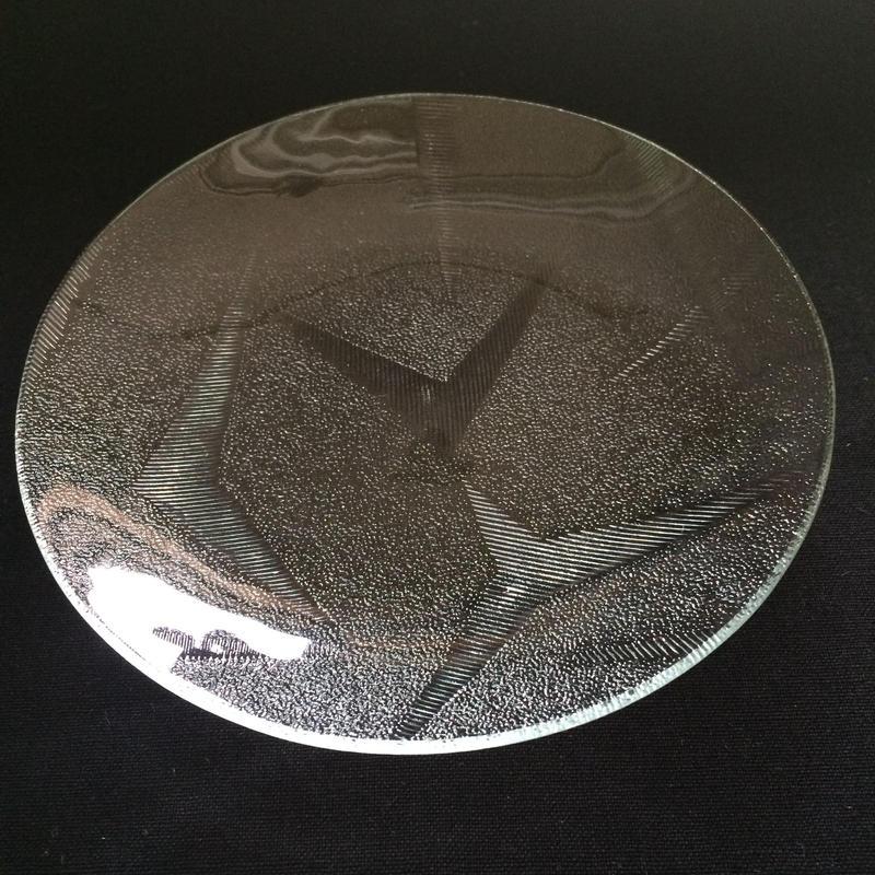 昭和型ガラス「折鶴」 皿 円形 小(Φ120mm)