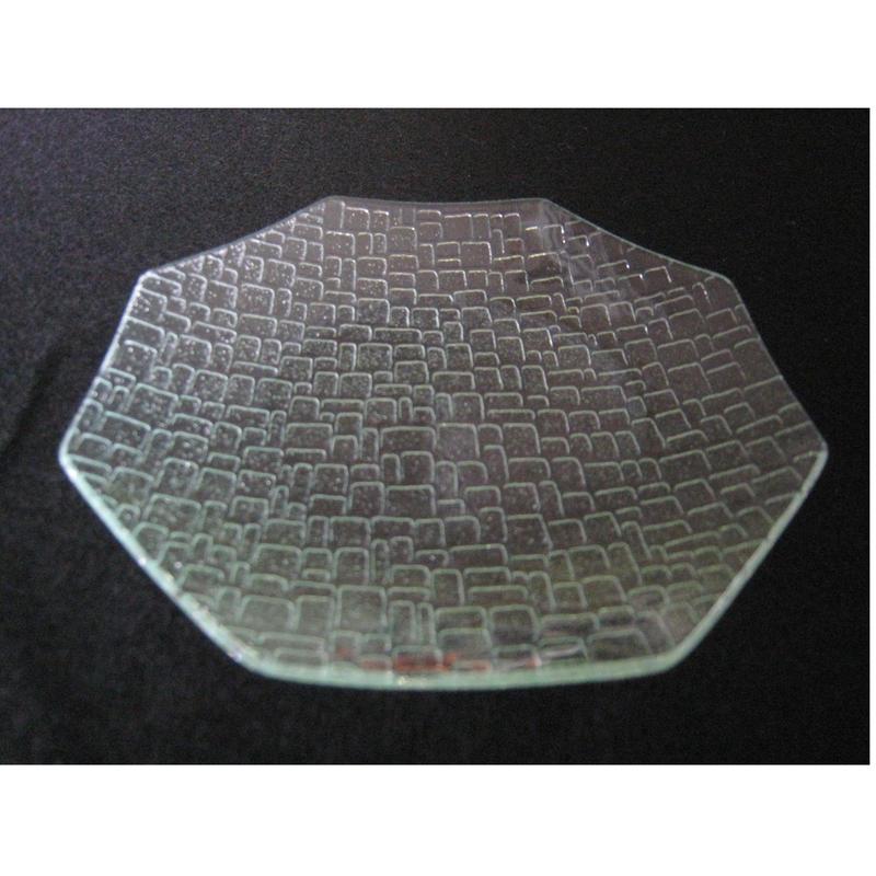 昭和型ガラス「つづれ」 皿 八角形 小(Φ120mm)