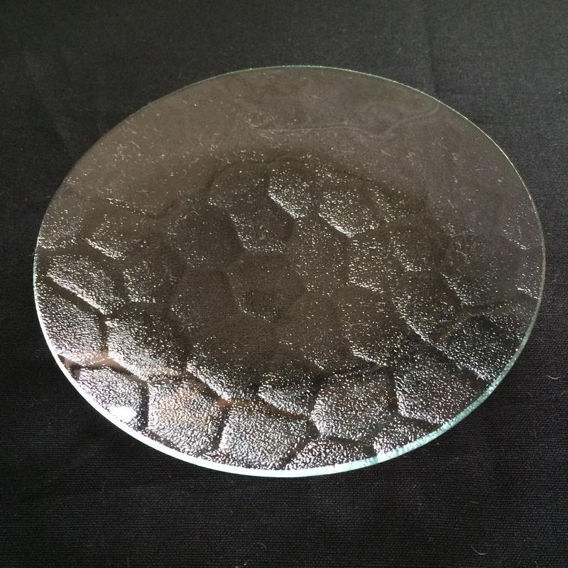 昭和型ガラス「ラフライト」 皿 円形 小(Φ120mm)