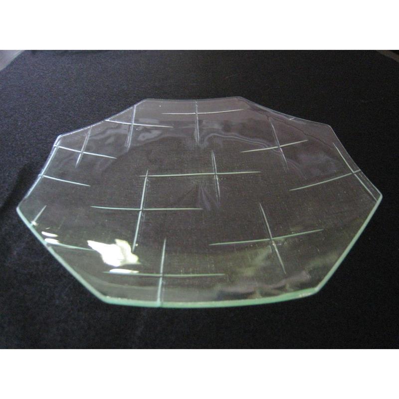 昭和型ガラス「かすり」 皿 八角形 大(Φ180mm)