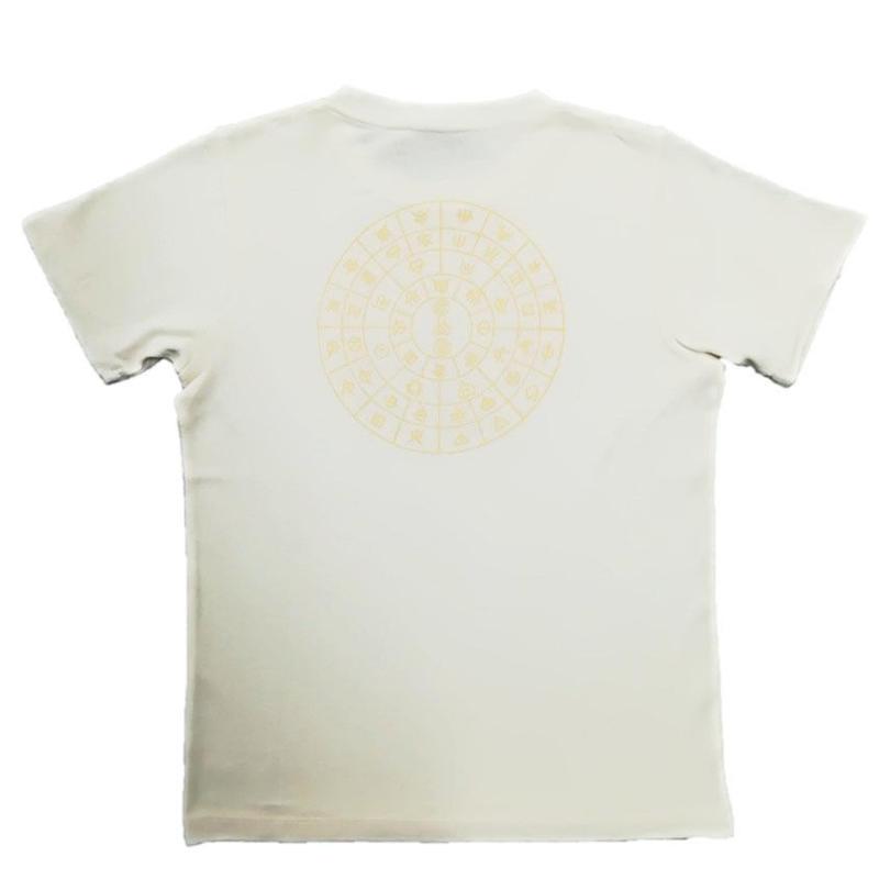【Tシャツ】ふとまに1 麻生地 クリーム 姫川薬石インク