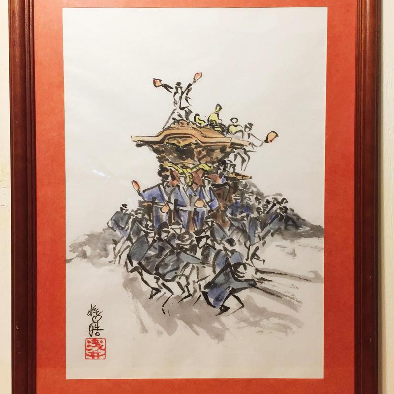 【手描きアート 原画】だんじり3 45.3cm × 35cm
