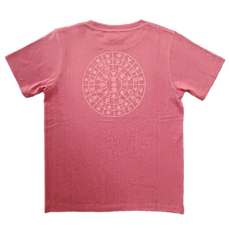【Tシャツ】ふとまに1 麻生地 レッド 姫川薬石インク