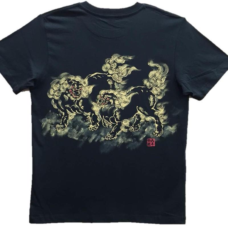 【ディスカウント】に獅子 黒 Mサイズ
