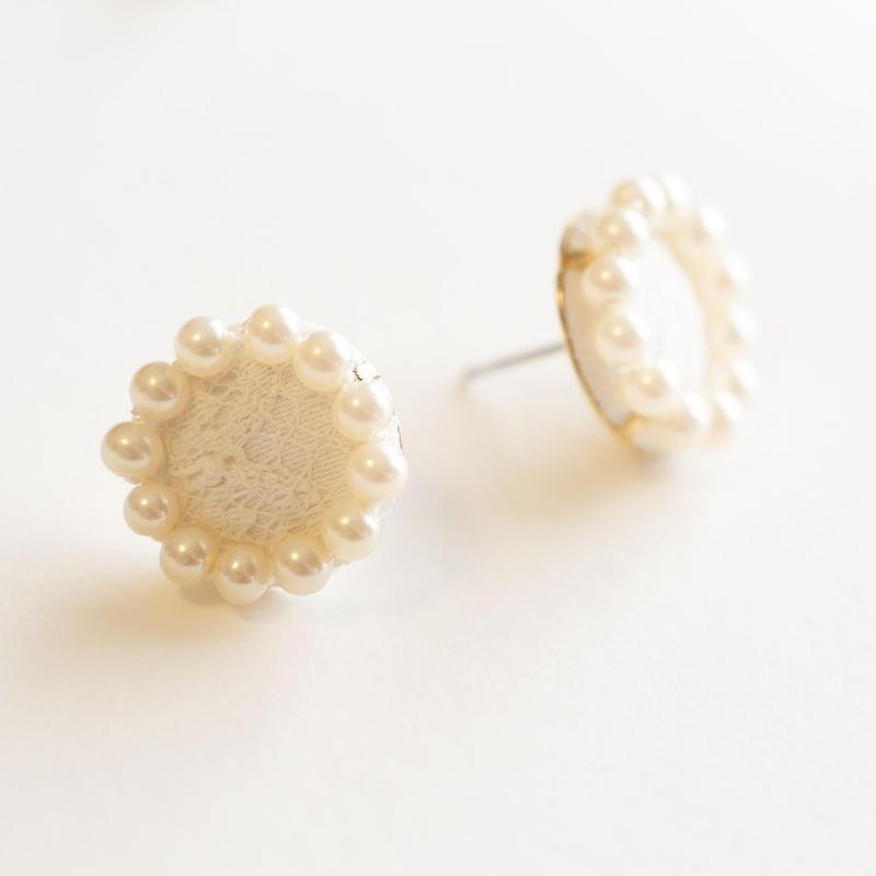 Circle Pearl Pierce/Earring