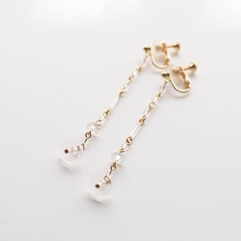 Crystal Aurola beads Long Earring
