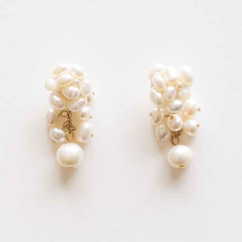 Pearl S Pierce/Earring