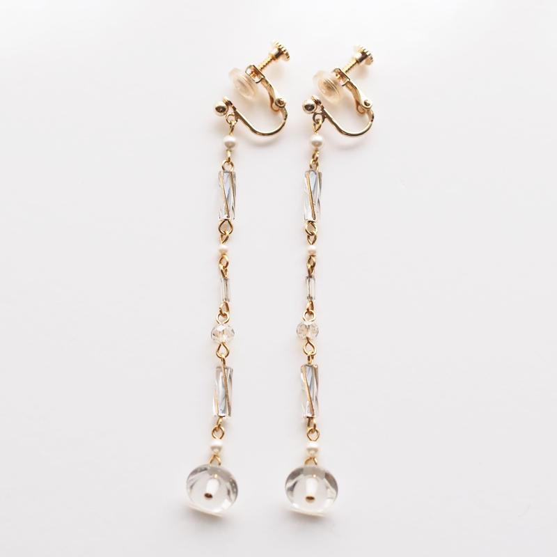 Twist beads Long Earring