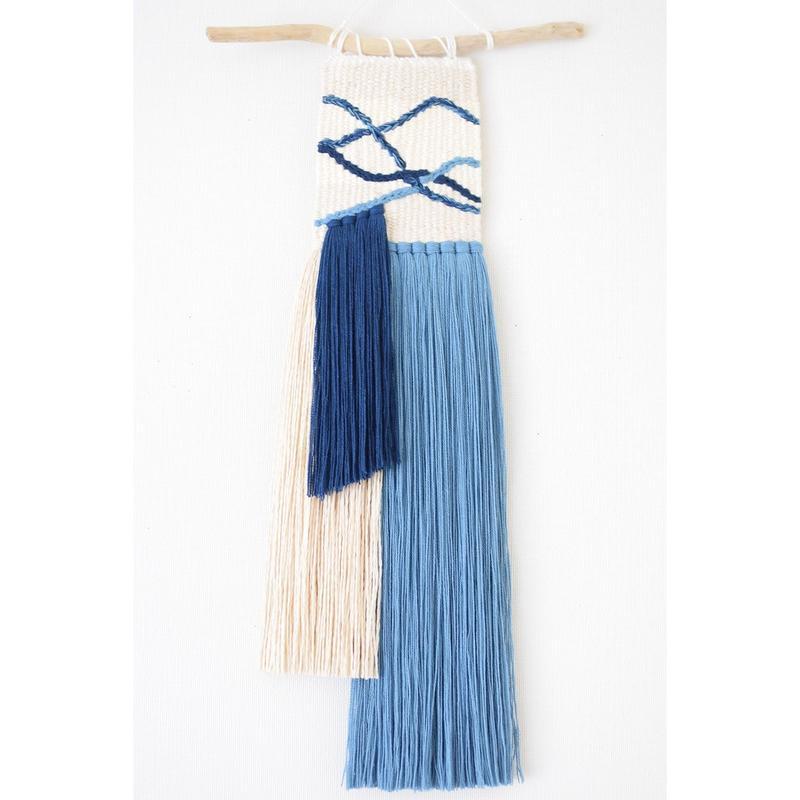 weving 藍と和紙のカラーブロック