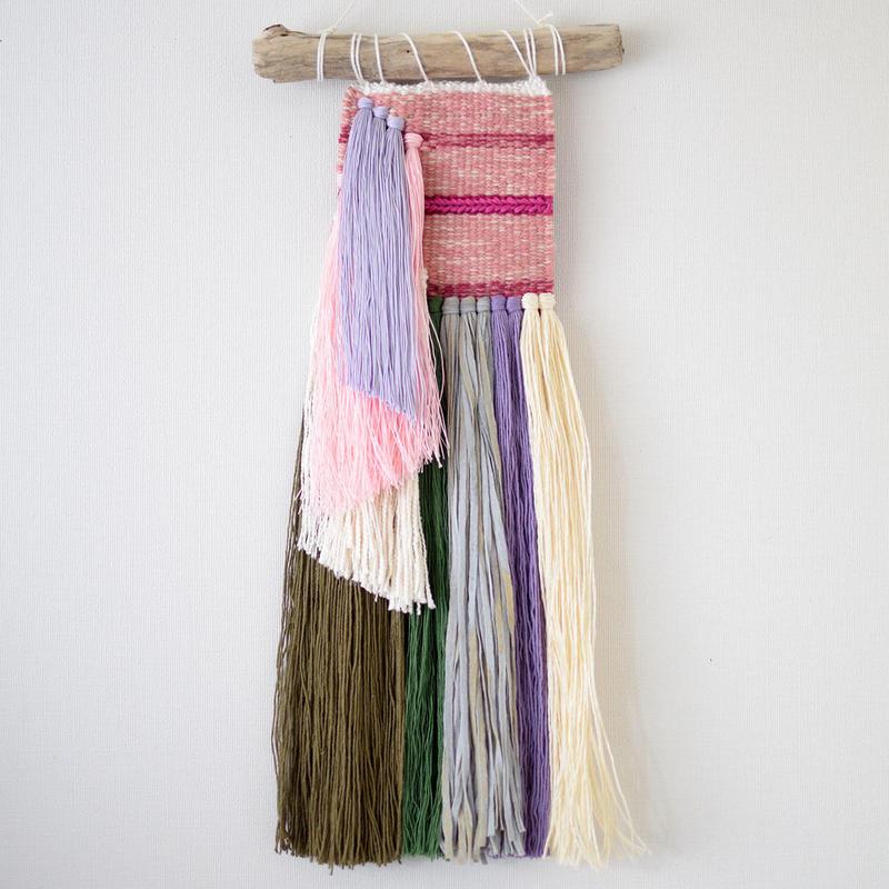 weving 糸で色を作る-沈丁花-
