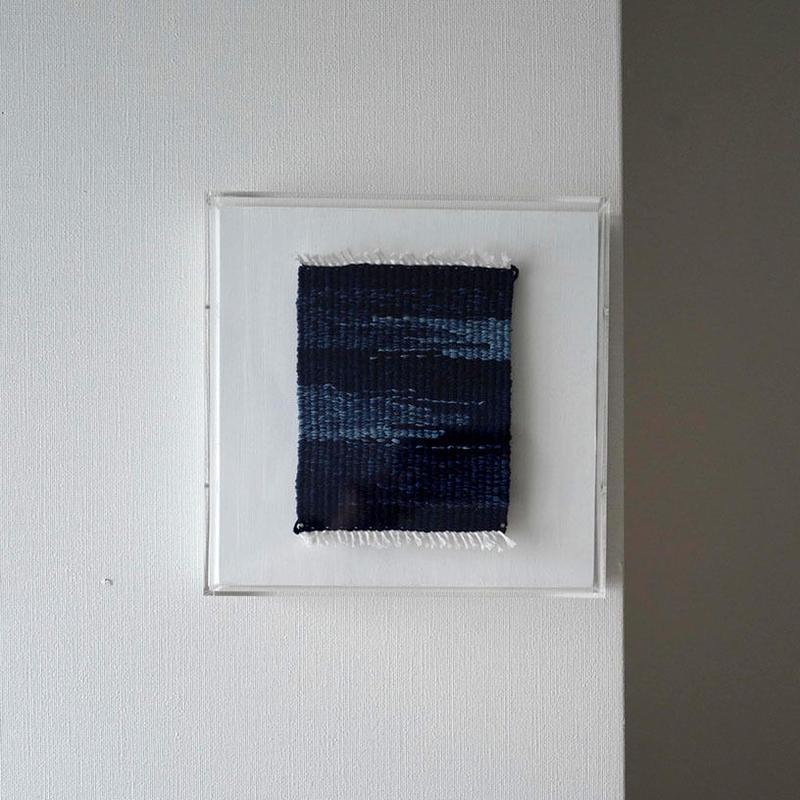Fiber art 「藍色の空」