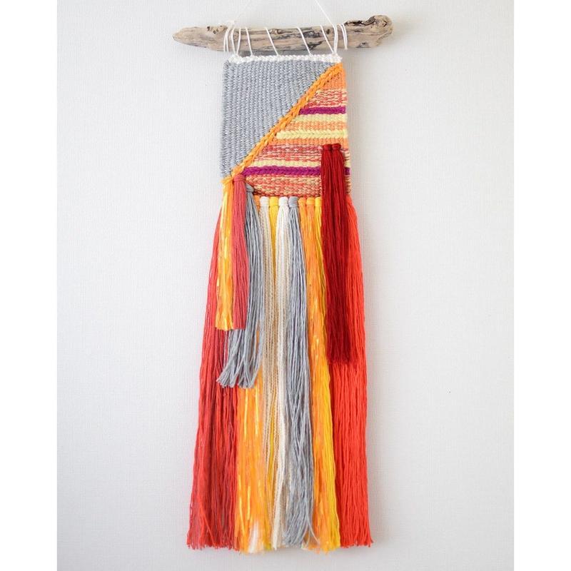 weaving 糸で色を作る-椿-