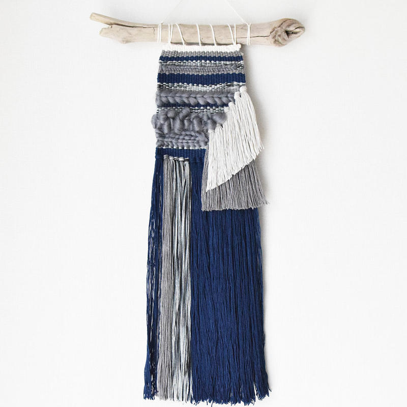 weaving 藍と無彩のグラデーション